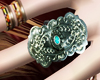 silv and turquoise ring