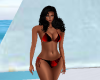 Red & Black Bikini