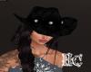 Cowboy Hat Hair Black