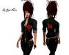 Shirt Black Rose Sexy