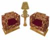 Burgundy Chat Chairs