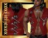 [L] Zipper Red Vest M