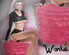 W° Flamingos Fur Seat