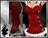 *dl FurHoodDress - Red