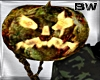 Zombi Pumpkin Hold Head