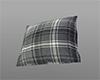 Tartan grey pillow