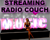 Pink Radio Player Couch