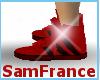 Adidas Shoe Red Black