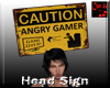 Head Sign Caution