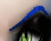 (M) Blue Thin Eyebrows