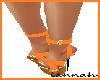 *L* Orange Sandals