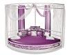 Purple/White Corner Bed