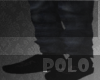 -Real polo slippers blk-