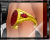 Red Gold Nubian Ring F