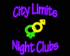 City Limits Club Sign