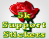 {CF}5K SUPPORT STICKER