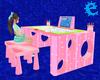 [E] Pink Easel Desk