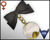 Bead bow earrings V1 (f)