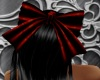Red PVC Giant Hair Bow