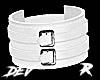 !D R Leather Cuff  White