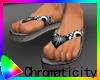 C! Graphic Beach Sandals