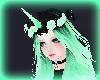 Black/Mint Unicorn Horn