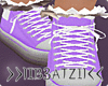 B! Purple Sneakers