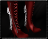 Lace Boots Red