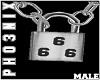 !PX 666 LOCK NECKLACE