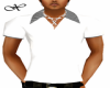 White Striped Collar Top