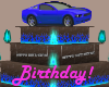 Blue Car Birthday Cake