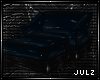 {J} Midnight PVC Lounger