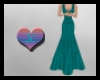~JC Teal Sparkle Gown