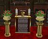 romantic wedding podium