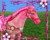 Pink kisses horse