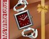 Ruby Face Platinum Watch