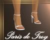 PdT White Sandal Heels F