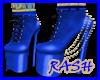 VERSACE BLUE BOOTS