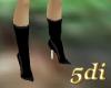 Black Velvet knee boots