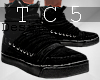 Hot black sneakers