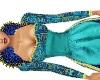 Queen's blue gown