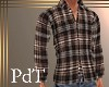 PdT Coffee Plaid Shirt M