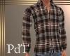 PdT Coffee Plaid Shirt M