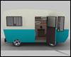 Blue Vintage Caravan