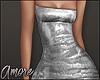 $ Silver Mini Dress  M