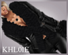 K black fur leather jack