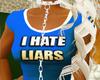 {XO} Hate Liars Blue