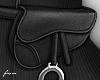 f. black belt bag silver