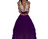 silve/purple gown