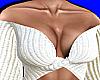 White Knit Off Shoulder